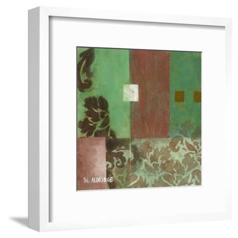 Sophisticated Scroll II-W^ Green-Aldridge-Framed Art Print
