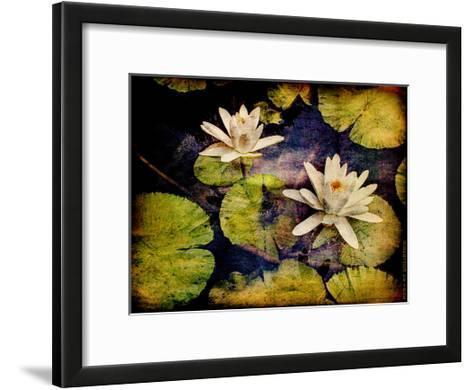 Lily Ponds V-Robert Mcclintock-Framed Art Print