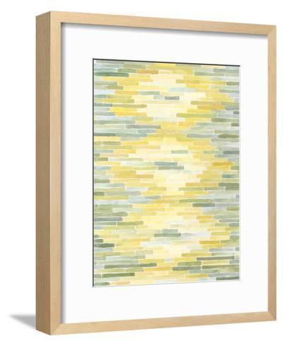 Green & Yellow Reflection II-Megan Meagher-Framed Art Print