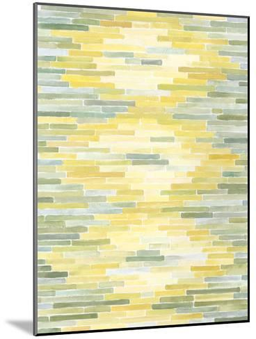 Green & Yellow Reflection II-Megan Meagher-Mounted Art Print