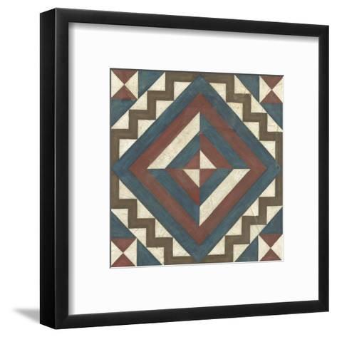 Quilt Motif I-Erica J^ Vess-Framed Art Print