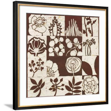 Brown Botanical 16-Patch-Andrea Davis-Framed Art Print