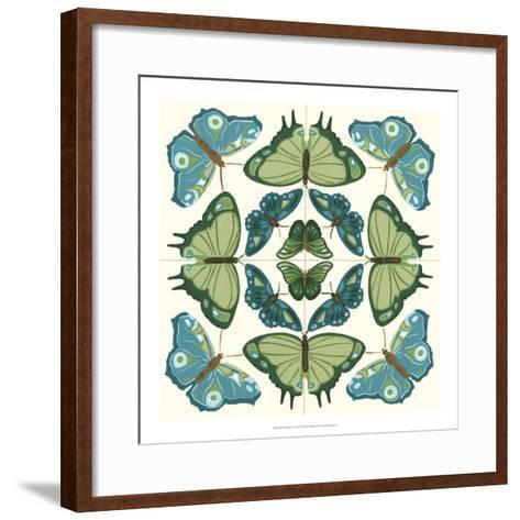 Butterfly Tile IV-Erica J^ Vess-Framed Art Print