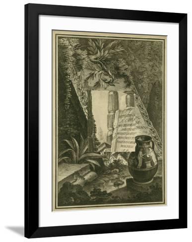 Grecian Tablet I--Framed Art Print
