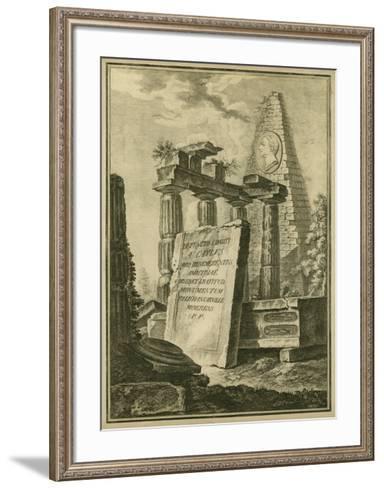 Grecian Tablet II--Framed Art Print