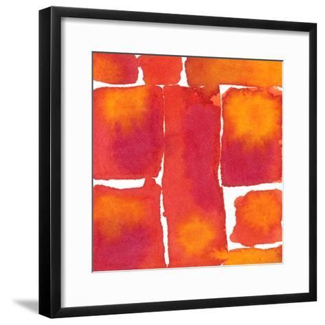 Saturated Blocks I-Renee W^ Stramel-Framed Art Print