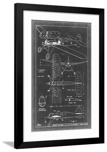 Aeronautic Blueprint II-Vision Studio-Framed Art Print