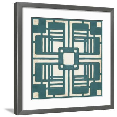 Deco Tile I-Erica J^ Vess-Framed Art Print