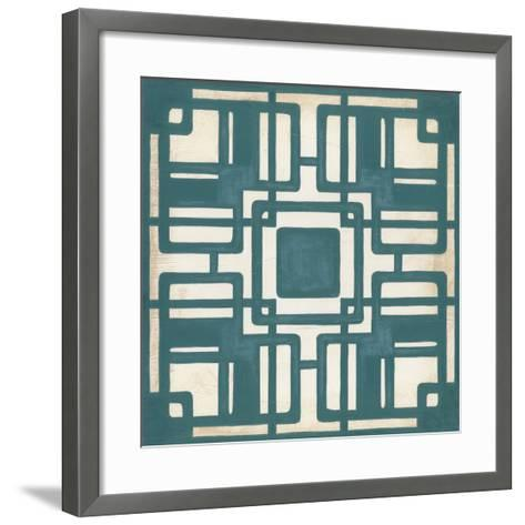 Deco Tile IV-Erica J^ Vess-Framed Art Print