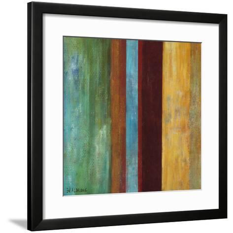 Blue Comes Thru I-W^ Green-Aldridge-Framed Art Print