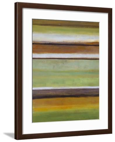 Peaceful Green III-W^ Green-Aldridge-Framed Art Print