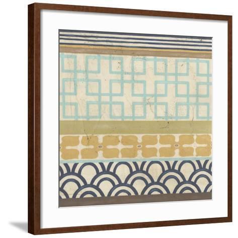 Geometric Frieze III-Erica J^ Vess-Framed Art Print