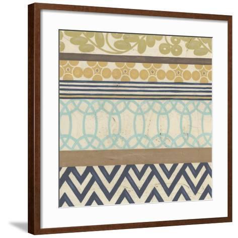 Geometric Frieze IV-Erica J^ Vess-Framed Art Print