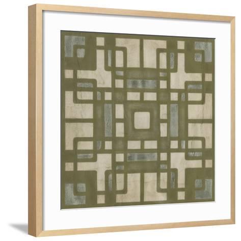Deco Tile II-Erica J^ Vess-Framed Art Print