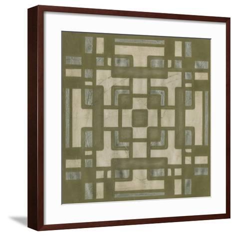 Deco Tile III-Erica J^ Vess-Framed Art Print