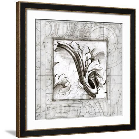 Embellished Acanthus Detail II-Ethan Harper-Framed Art Print