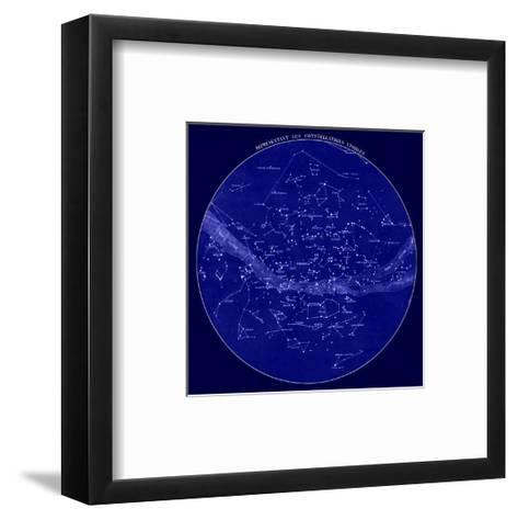 Celestial Map of Constellations visible from France, 19th C.--Framed Art Print