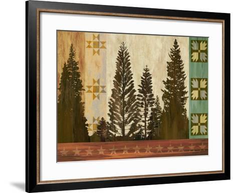 Pine Trees Lodge II-Tania Bello-Framed Art Print