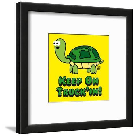 Keep on Truck'in!-Todd Goldman-Framed Art Print