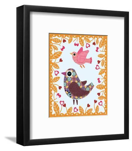 Folksy Friends IV-Clara Wells-Framed Art Print