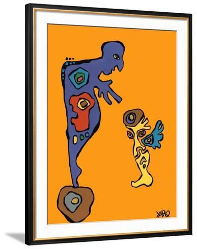 The roles-Yaro-Framed Art Print