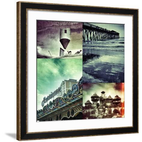 Vintage Beach 4-Jean-Fran?ois Dupuis-Framed Art Print