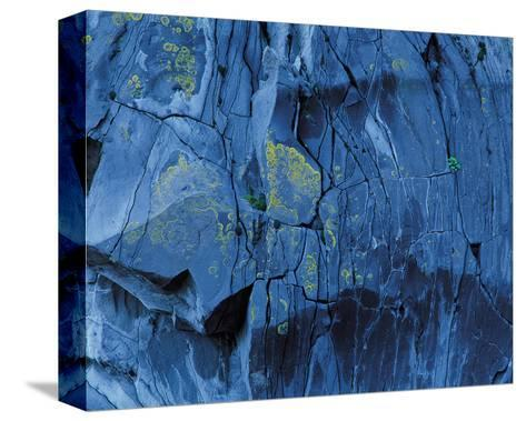 Blue Fragmentation--Stretched Canvas Print