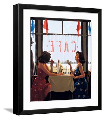Caf? Days-Jack Vettriano-Framed Art Print