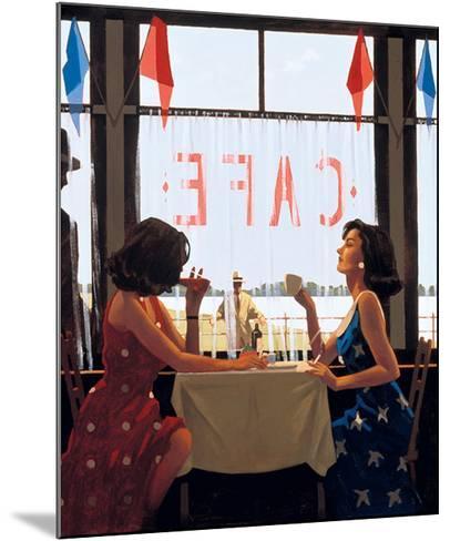 Caf? Days-Jack Vettriano-Mounted Art Print