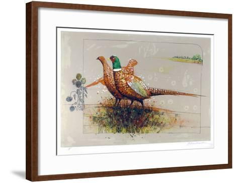 Pheasants-Allan Mardon-Framed Art Print