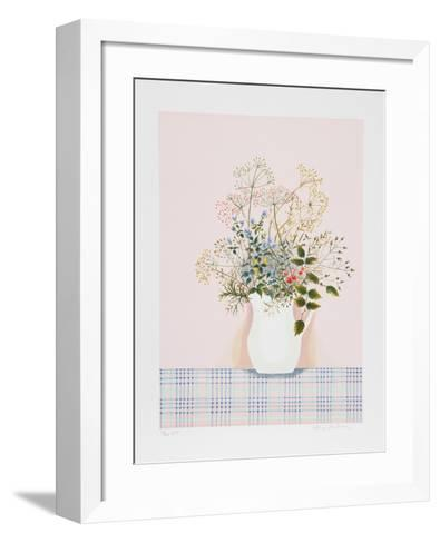 Herbs on Pink Background-Mary Faulconer-Framed Art Print
