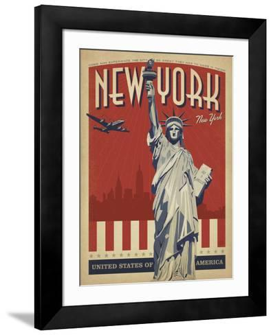 New York, NY (Statue of Liberty)-Anderson Design Group-Framed Art Print