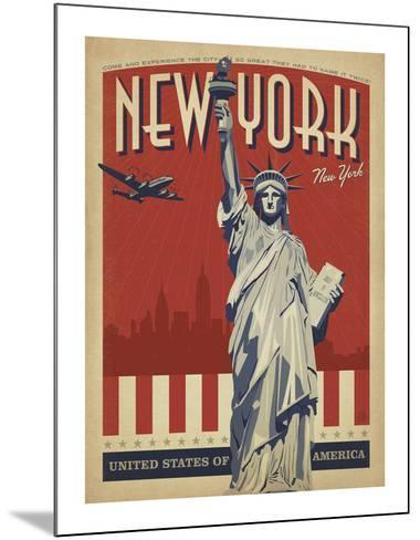 New York, NY (Statue of Liberty)-Anderson Design Group-Mounted Art Print