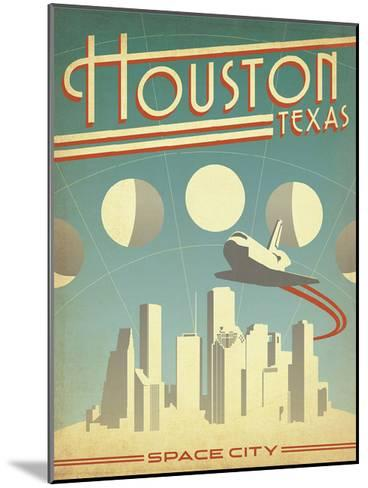 Houston, Texas: Space City-Anderson Design Group-Mounted Art Print