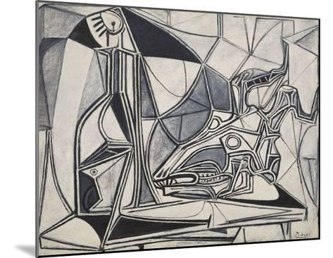 Goat's Skull, Bottle and Candle, 1952-Pablo Picasso-Mounted Art Print