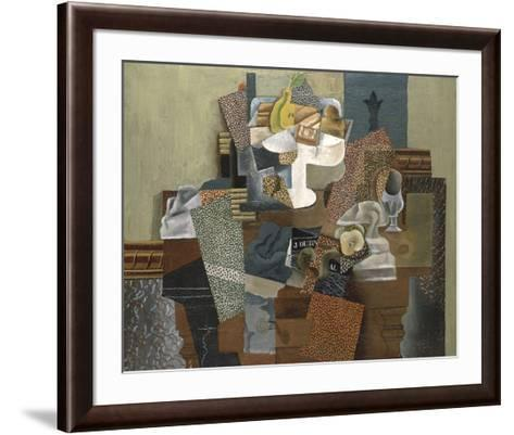 Still Life with Compote and Glass, Winter 1914-15-Pablo Picasso-Framed Art Print