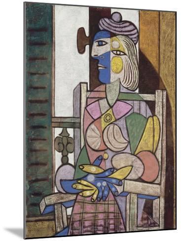 Femme assise devant la fenetre-Pablo Picasso-Mounted Art Print