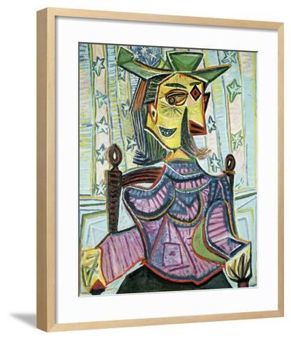 Seated Portrait of Dora Maar-Pablo Picasso-Framed Art Print