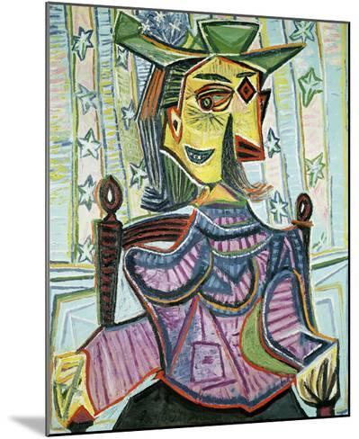 Seated Portrait of Dora Maar-Pablo Picasso-Mounted Art Print