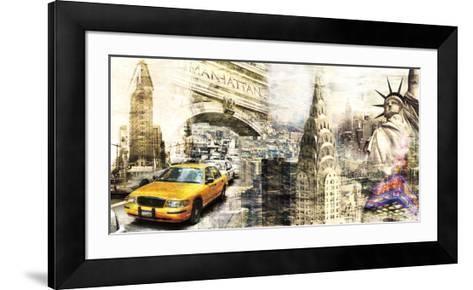 Downtown New York-Bresso Sol?-Framed Art Print