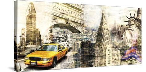 Downtown New York-Bresso Sol?-Stretched Canvas Print