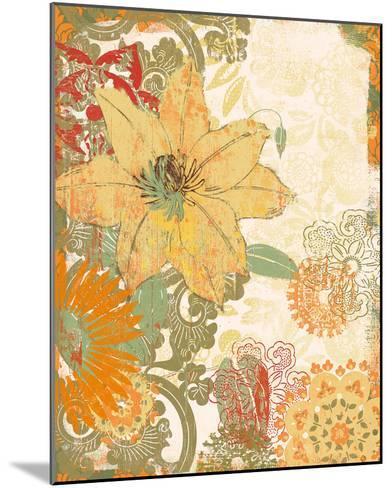 Folk Flower I-Ken Hurd-Mounted Giclee Print