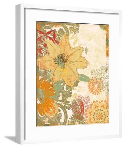 Folk Flower I-Ken Hurd-Framed Art Print