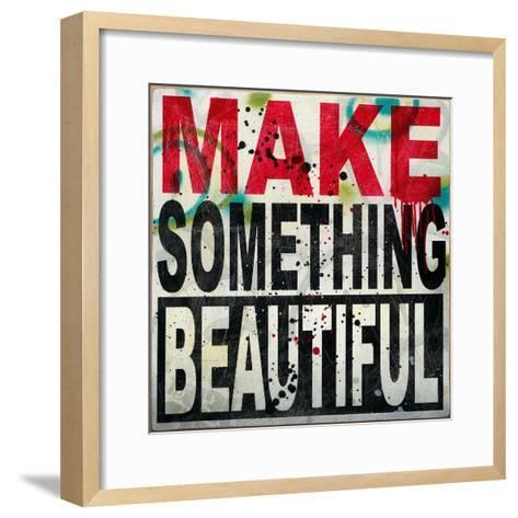 Make Something Beautiful-Daniel Bombardier-Framed Art Print
