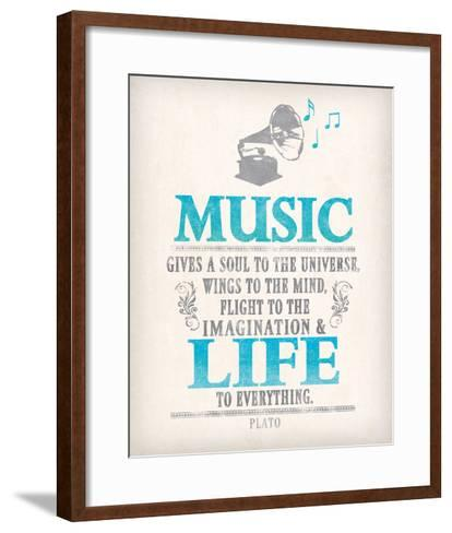 Words of Truth I-The Vintage Collection-Framed Art Print