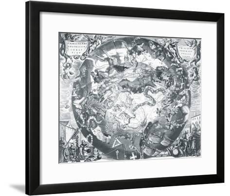 Haemisphaeri Graphicum Coelitietum Sceno Australae Stella Terrae, 1660-Henricus Hondius-Framed Art Print