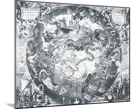 Haemisphaeri Graphicum Coelitietum Sceno Australae Stella Terrae, 1660-Henricus Hondius-Mounted Giclee Print