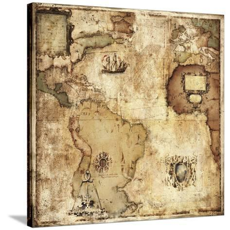 Map of Discovery-Paul Panossian-Stretched Canvas Print