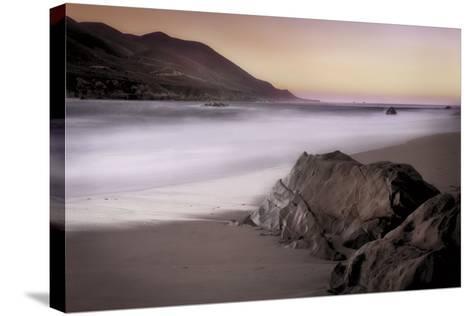 Garrapata Beach-John Rehner-Stretched Canvas Print