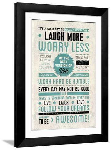 Be Awesome--Framed Art Print